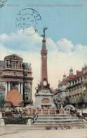 BRUXELLES - PLACE DE BROUCKERE ET MONUMENT ANSPACH - Marktpleinen, Pleinen
