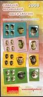 Romania 2008 / Romanian Pottery, Pots And Cups / Prospectus, Leaflet, Brochure - 1948-.... Républiques