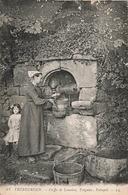 22 Trebeurden Coiffe De Lannion Treguier Paimpol Puits Folklore Breton Cpa Carte Animée - Trébeurden
