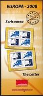Romania 2008 / Europa (CEPT) The Letter / Prospectus, Leaflet, Brochure - 1948-.... Républiques