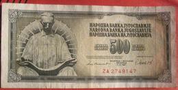 500 Dinara 1981 (WPM 91b) - Replacement Note - Jugoslawien