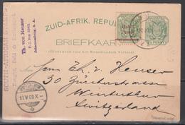 Tarjeta Postal, Trasval. Franqueo Adicional. - África Del Sur (...-1961)