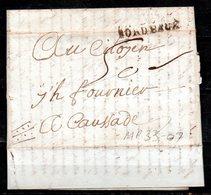MP33-07 : Dept 33 (Gironde) MP BORDEAUX 1793 > Taxe Manuscrite > Lettre Pour CAUSSADE 82 - Poststempel (Briefe)