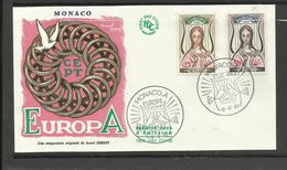 Monaco FDC YT 618/19 Europa Cept 1963 Pigeons Colombes - Pigeons & Columbiformes