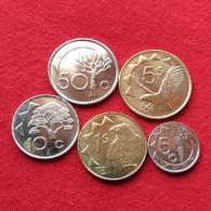 Namibia Set 5 10 50 Cents 1 5 $ 2010 - 2015 - Namibia
