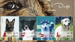 St Vincent (Bequia) 2014 - Chiens - BF 4 Val Neuf // Mnh - St.Vincent & Grenadines