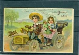 Relief - Gaufrée - Embossed - Prage - Enfants En  Auto - BE - Non Classés