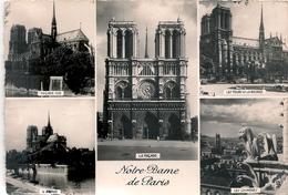 Cpm 75 Paris 1 Cathédrale Notre Dame Multi Vues - Notre Dame De Paris