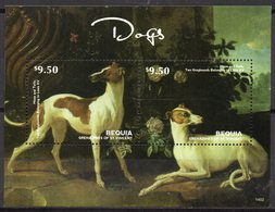 St Vincent (Bequia) 2014 - Chiens, Les 2 Greyhounds (Lévrier Anglais) De Louis XV - BF 2 Val Neuf // Mnh - St.Vincent & Grenadines