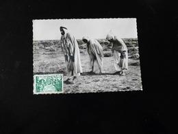 CACHET COMMEMORATIF  -  EXPOSITION PHILATELIQUE ALGERIE  -  1948  -  SUR CARTE SCENES ET TYPES - Postmark Collection (Covers)
