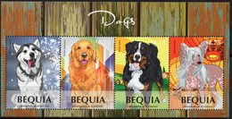 St Vincent (Bequia) 2014 - Chiens Divers - BF 4 Val Neuf // Mnh - St.Vincent & Grenadines
