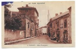 Vaour Rue Principale Publicité Guillot - Vaour