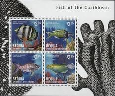 St Vincent (Bequia) 2013 - Faune Marine, Poissons Des Caraïbes - BF 4 Val Neuf // Mnh - St.Vincent & Grenadines