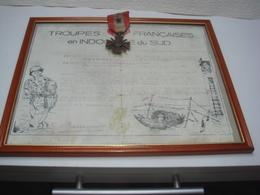 Medaille Militaire Avec Cadre Troupes Français Indochine - Frankreich