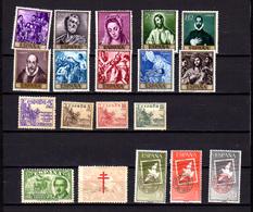 1949-61   Espagne, Journée Du Timbre, Le Gréco, Entre 784 Et 1023* + PA225-229*, Cote 50 €, - 1931-50 Unused Stamps