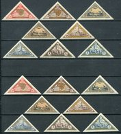 1932-LITUANIA- TRIANGLE-PERF.+  IMPERF.- 16 VAL.  -M.N.H.-LUXE !! - Lithuania