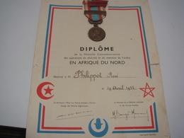 Medaille Militaire Afrique Du Nord Avec Diplome - Frankreich