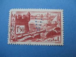 Perforé Perfin Maroc, Perforation :   V24      à Voir - Maroc (1891-1956)