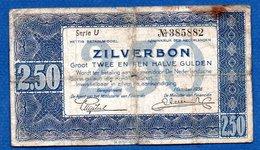 Pays-Bas - 2.5 Gulden 1/10/1938  - état  B - [2] 1815-… : Kingdom Of The Netherlands