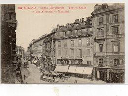 MILANO - SANTA MARGHERITA - TEATRO SCALA......... - NON VIAGGIATA - Milano
