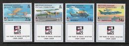 British Indian Ocean Territory 2009 Naval Aviation Set 4v Complete Unmounted Mint [4/4004/ND] - British Indian Ocean Territory (BIOT)