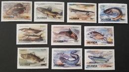 Uganda 1985 Freshwater Fish LOT - Uganda (1962-...)