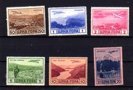 1943  Monténégro, Vues Aérienne, PA 22 / 27*, Cote 40 € - Montenegro