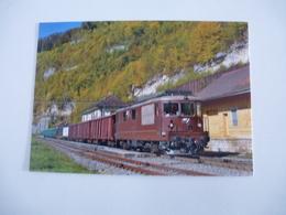 SUISSE : Chemin De Fer Du Jura  Re 4/4 191à St. URSANNE En Octobre 2018 - Trains
