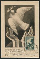 1946 France Exposition Philatelique De Chatellerault Peace Dove Maxicard. - Maximum Cards