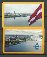 RIGA LATVIA 2019 Fahrkarten City Transport Card Tickets, 2 Various Designs - Titres De Transport
