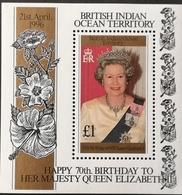 British Indian Ocean Territory  1996 Queen Elizabeth Ii ,70th. Birthday S/S - Stamps