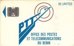 BENIN - PTT Logo 50 Units, Chip SC7, Red CN : C32141087, Used - Benin