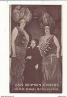 VAN DROYSEN SISTERS LES PLUS GRANDES FEMMES DU MONDE CIRQUE SPECTACLE BON ETAT - Cirque