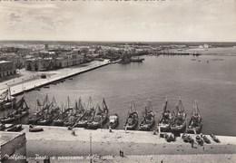 MOLFETTA-BARI-PORTO E PANORAMA DELLA CITTA-CARTOLINA VERA FOTOGRAFIA-VIAGGIATA IL 18-10-1952 - Bari