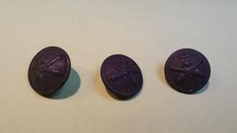 Lot De 3 BOUTONS Anciens - Diamètre Environ 17 Mm - Vêtement Armée Militaire Guerre Soldat /4 - Botones