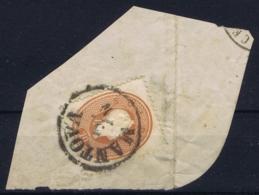 Lombardo Veneto Sa 34 On Fragment Mantova 3-11-1861 - Lombardy-Venetia