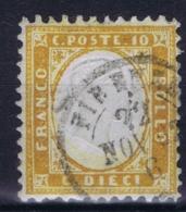 Italy Sa 1 H Mi 9  Obl./Gestempelt/used   Arancio Ocra - 1861-78 Vittorio Emanuele II