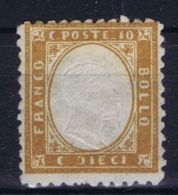Italy Sa 1 Mi 9  MH/* Flz/ Charniere 1862 - 1861-78 Victor Emmanuel II.