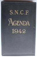 Rare Agenda SNCF 1942 Agenda De Bureau Calendrier Train Chemin De Fer WWII 1939-1945 - Railway