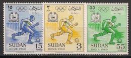 Soudan - 1960 - N°Yv. 128 à 130 - Rome / Olympics - Neuf Luxe ** / MNH / Postfrisch - Ete 1960: Rome