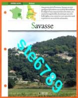 26 SAVASSE Drome  Région RHONE ALPES Villages De France Géographie Fiche Dépliante Village - Géographie
