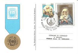 ITALIA - 1985 BORGO VAL DI TARO (PR)  Conferimento Medaglia D'oro Al Valor Militare Su Cartolina Speciale - Francobolli