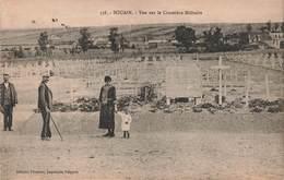51 Souain Vue Sur Le Cimetiere Militaire Guerre 1914 1918 Cachet Convoyeur 1924 Chalons Sur Marne - Souain-Perthes-lès-Hurlus