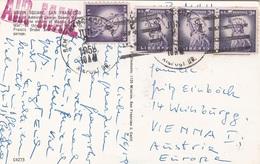 USA 1958 - 4 Fach Frankierung Auf Ak SAN FRANCISCO - Vereinigte Staaten
