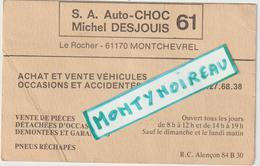 Vieux Papier :  Orne : MONTCHEVREL Prés  Sées : Garage  Auto Choc - Visiting Cards