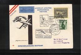Germany / Deutschland 1958 Austrian Airlines Erstflug Wien - Stuttgart  Interessanten Brief - Premiers Vols AUA