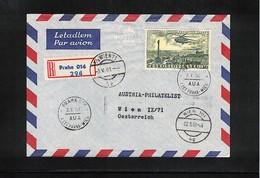 Germany / Deutschland 1961 Austrian Airlines Erstflug Praha - Wien Interessanten Brief - Premiers Vols AUA