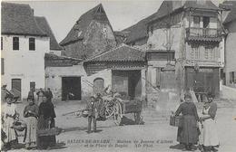 SALIES DE BEARN :Maison De Jeanne D'Albret Et La Place De Bayda Aimée (1918) - Autres Communes