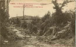 250419C - GUERRE MILITARIA BOMBARDEMENT - BELGIQUE KEMMEL Chemin Du Katerkerkhof Et Hauteur Du Cabreton Ou Petit Kemmel - Heuvelland