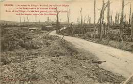 250419C - GUERRE MILITARIA BOMBARDEMENT - BELGIQUE KEMMEL Ruines Du Village Ruines église Et Baraquements Nouveau Kemmel - Heuvelland